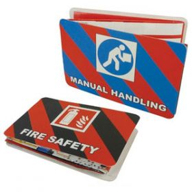 Manual Handling and Fire Safety Pocket Guide Pack of 20
