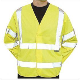 Hi-Visibility Long Sleeve Waistcoats, Large