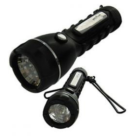 Black Rubber Torch 2AA