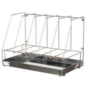 Bristol Maid Rack - Drainage - Stainless Steel - 5 Bedpans