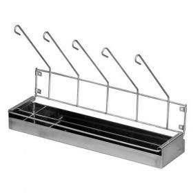 Bristol Maid Rack - Drainage - Stainless Steel - 5 Urinals