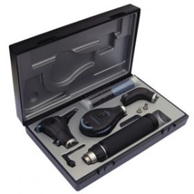Riester 3753 Perfect E.E.N.T. Ri-Scope Set with Ophthalmoscope, F.O. Tongue Blade Holder 2.5V HL