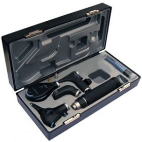 Riester Ri-Scope Ophthalmoscope, Nasal Speculum, F.O. Tongue Blade Holder 2.5V HL E.N.T. Set