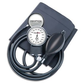 Rossmax Aneroid Sphygmomanometer with Single Head Stethoscope [Pack of 1]