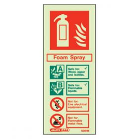 Photoluminescent Fire Extinguisher AFF Sign