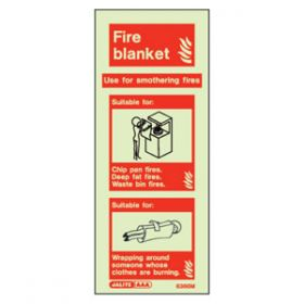 Photoluminescent Fire Extinguisher Fire Blanket Sign