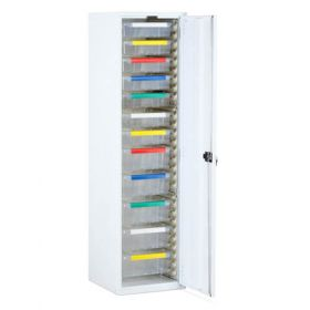 Bristol Maid Storage Cupboard - R/H Hinge - 1870mm - 7 X 100mm & 5 X 150mm Trays