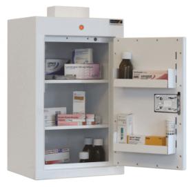 ??ontrolled Drug Cabinet, 2 shelves/2 trays, 1 door