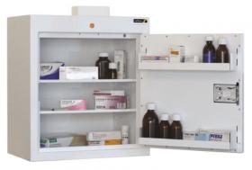 ??ontrolled Drug Cabinet, 2 shelves/2 trays, 1 door Sun-CDC24/WL