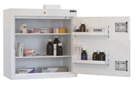 ??ontrolled Drug Cabinet, 2 shelves/2 trays, 1 door Sun-CDC25/WL