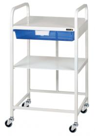 VISTA 10 Economy Trolley, 1 Blue Tray & 1 Shelf