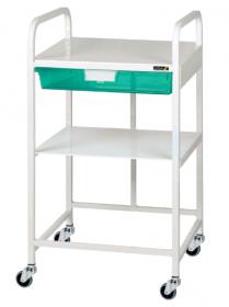 VISTA 10 Economy Trolley, 1 Green Tray & 1 Shelf