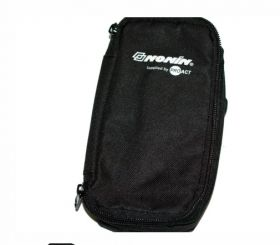 Deluxe Carry Case, Black Reinforced, for use with Nonin Hand Held Oximeters