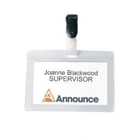 SELF LAMINATING BADGE 54X90MM PK25