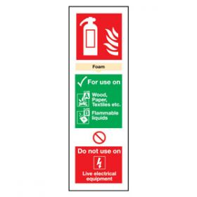Fire Extinguisher AFF Foam Sign, Rigid