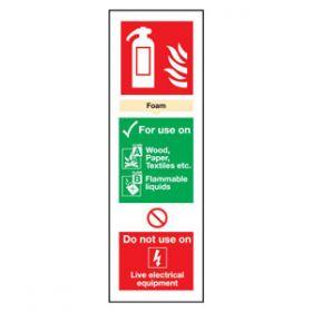 Fire Extinguisher AFF Foam Sign, Vinyl