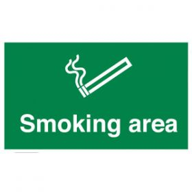 Smoking Area Sign, Rigid