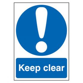 Keep Clear Sign, Rigid, 21x14.8cm