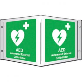 Panoramic AED Sign
