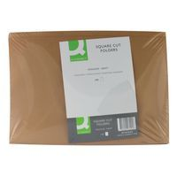 QCONNECT S-CUT FOLDERS KRAFT F/CAP