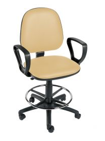 Sunflower Gas-lift Chair with Arms and Foot Ring