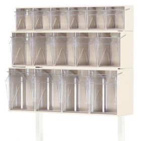 Bristol Maid Tilt Bin, 5 Compartment C/W Fitting Kit For Overbridge