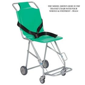 Sidhil TRA07 Transit Chair with four wheels (front braked) & footrest