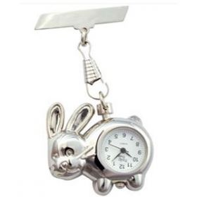 Silver Rabbit Fob Watch