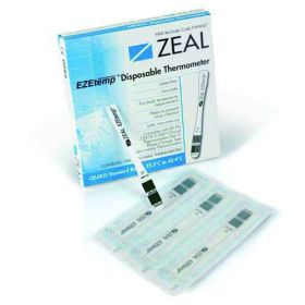 Zeal Single-Use Thermometers, Pack Of 100