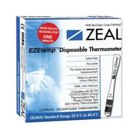 Zeal EZEtemp Disposable Thermometer [Pack of 100]