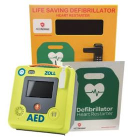 ZOLL AED 3 Fully Automatic with AED Armor Stainless Steel Cabinet - Locked