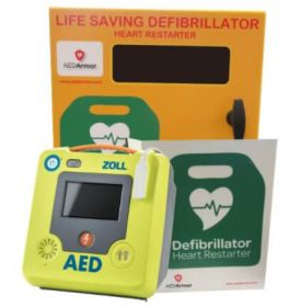ZOLL AED 3 Fully Automatic with AED Armor Stainless Steel Cabinet - Unlocked