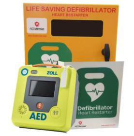 ZOLL AED 3 Semi Automatic with AED Armor Stainless Steel Cabinet - Unlocked