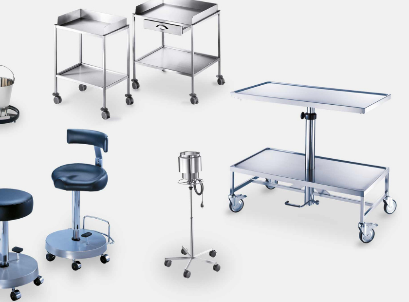 What are different types of hospital furniture?